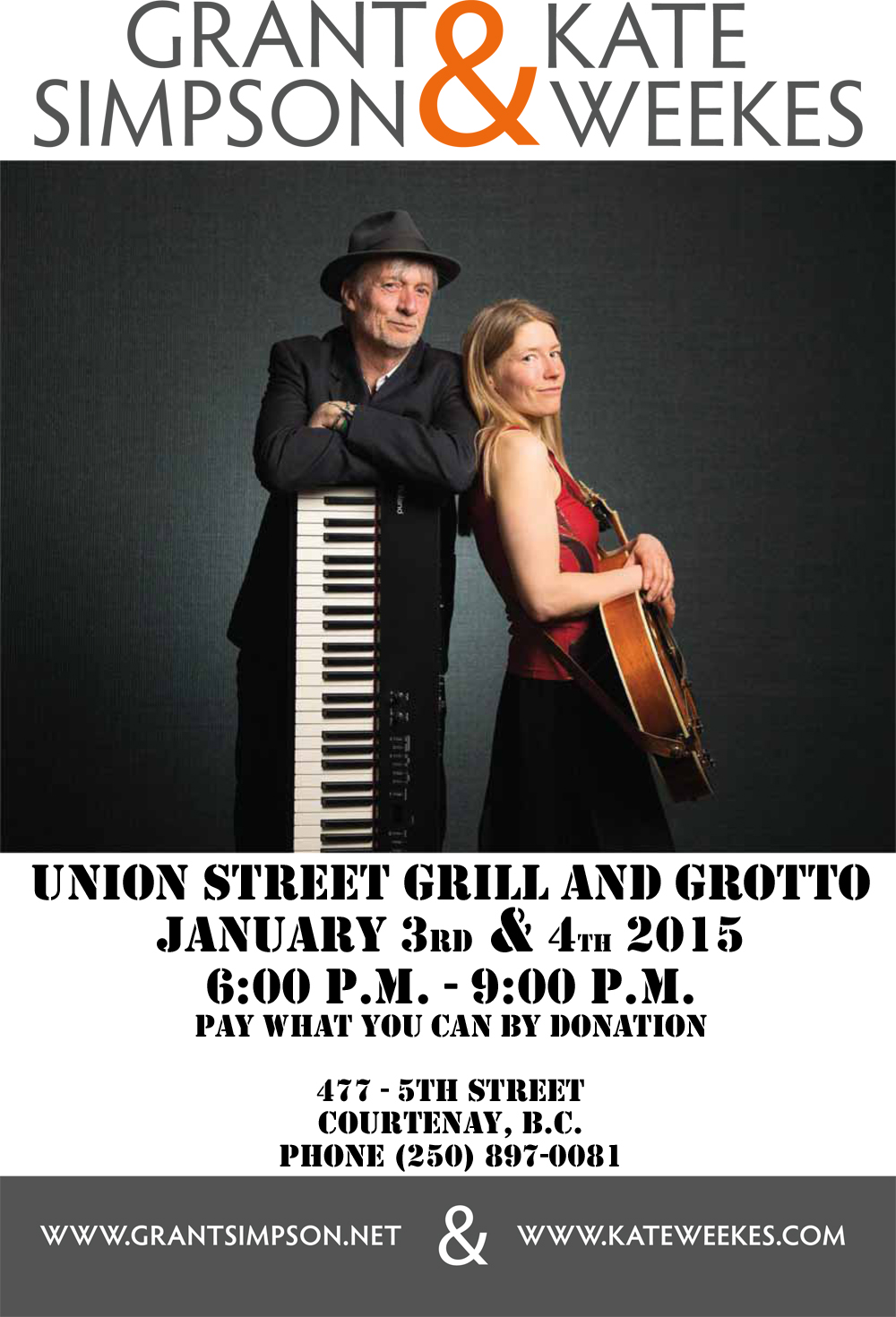 Grant Simpson and Kate Weekes Performing at Union Street