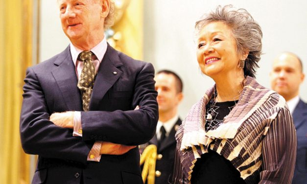 Adrienne Clarkson and John Ralston Saul in Comox Valley